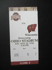 1996 Ohio State vs Wisconsin Homecoming Football Ticket Official Reproduction
