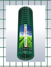 RETE METALLICA PLASTIFICATA  RECINZIONE GABBIE ELETTROSALDATA  5x7,5cm H.200 CM