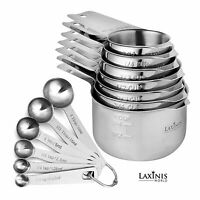 7 Measuring Cups and 6 Measuring Spoons Sturdy & 18/8 Stainless Steel Stackable