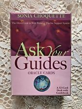 """ASK YOUR GUIDES"" Oracle 52 Card Deck & Guidebbo by Sonia C.  NEW Sealed in Box"