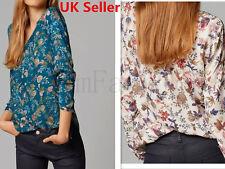 New Sexy Women Ladies Casual Loose V Neck Chiffon Long Sleeve Top Blouse Shirt