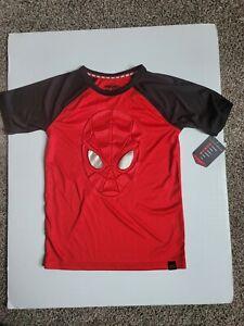 Marvel Hero Elite Spider-Man Youth Boys Red Short Sleeve T-shirt 7X A11