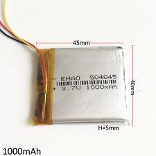 3.7V 1000mAh rechargeable Battery LiPo polymer For DVD speaker recorder 504045