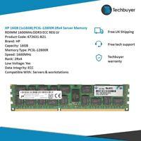 HP 16GB (1x16GB) PC3L-12800R 2Rx4  RDIMM 1600MHz DDR3 ECC REG LV - 672631-B21