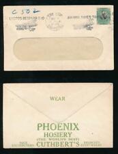 SOUTH AFRICA 1929 AIRMAIL SLOGAN ADVERTISING ENV PHOENIX HOSIERY + CUTHBERTS