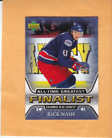 2005 06 UPPER DECK RICK NASH ALL TIME GREATEST FINALIST #17 COLUMBUS BLUE JACKET