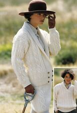 pour s/'adapter 32-42 in buste PATONS CROCHET PATTERN FOR LADY/'S Cardigan