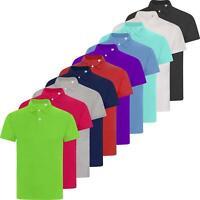 New Mens Pique Polo Shirt Short Sleeve Summer Colours Cotton T Shirt Top S-5XL