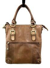 Ladies BOLLA Brown Genuine Leather Square Zip Up Handbag Shoulder Bag B10