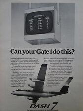 5/1974 PUB DE HAVILLAND AIRCRAFT OF CANADA AVION DASH 7 AIRLINER ORIGINAL AD