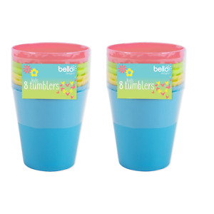Kids Child Picnic Tumblers Drink Open Cup Plastic Reusable Garden Camping Beach
