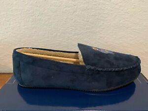 Polo Ralph Lauren Dezi with Bear Men's Slippers Slip On Shoes Moccasins Navy