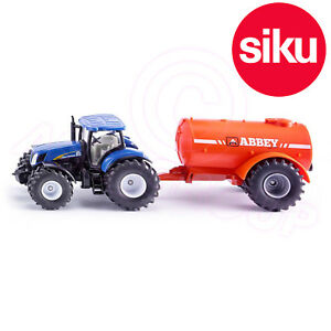 Siku 1945 New Holland Tractor + Abbey Slurry Tanker 1:50 Scale Model Toy