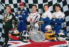 Herbert, Hill, Warwick, BRUNDLE, Blundell Firmato a Mano 12x8 photo formula 1 f1.