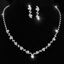 Fashion Crystal Earrings Necklace Wedding Prom Bridal Bridesmaid Jewelry Set Hot