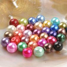 90 Pcs/Set  DIY 10mm Acrylic Round Pearl Loose Beads Jewelry Making