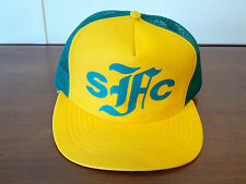 Vintage Snapback Mesh Trucker Hat Green & Yellow Made in USA