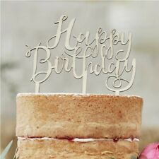WOODEN CAKE TOPPERS - Boho Wedding Happy Birthday Mr and Mrs Love Decorations