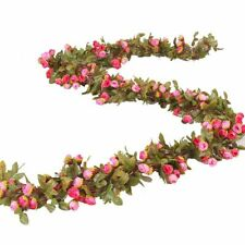 Wedding Artificial Flower Vine Garland Ivy Arch Hanging Wall Rattan Plant Leaves
