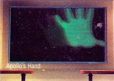 1996 STAR TREK 30 YEARS PHASE THREE APOLLO'S HAND LENTICULAR TRADING CARD M1