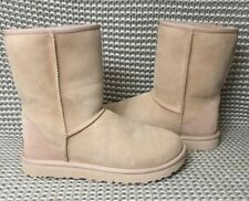 UGG Classic Short II Amberlight Suede Fur Boots Womens Size 8