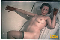 semi nude woman in red gloves, shadow,  vintage  fine art slide!  1950'