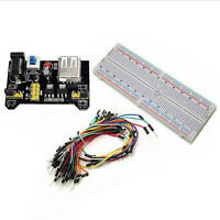 MB-102 Solderless 830 Point PCB Breadboard+Power Supply+65pcs Jump Cable Wires