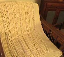 Skerin Aran for my Carolyn Crochet Afghan Pattern Lots of Classic Texture