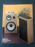 VINTAGE DAK INDUSTRIES CATALOG WINTER 1986 AUDIO VIDEO ELECTRONICS