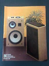 VINTAGE DAK INDUSTRIES CATALOG WINTER 1986 AUDIO VIDEO ELECTRONICS