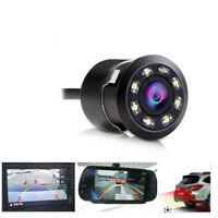 8LED Car Backup Rear View Reverse Park HD Camera Night Vision Cam Waterproof  LD