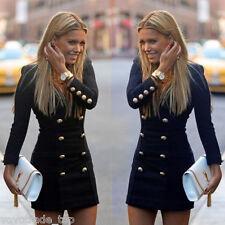 Fashion Abito Vestito Donna Inverno Tubino Da Cocktail Manica Lunga BOX GIORNO