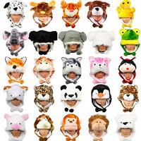 Cute Cartoon Animal Hat Plush Beanie Winter Ear Warm Fluffy Cap Earmuff Gift