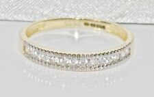 9ct Gold 0.15ct Ladies Eternity Ring - size P - UK Hallmarked