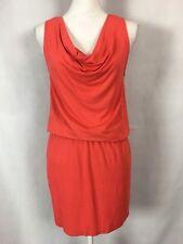 Michael Stars Dress Size Small S Drape Mini Katie Chili Sleeveless Orange