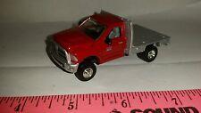 1/64 CUSTOM 2013 dodge red 2500 cummins flatbed pickup truck ERTL farm toy