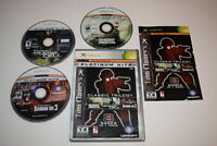 Tom Clancy's Classic Trilogy Microsoft Xbox Video Game Complete