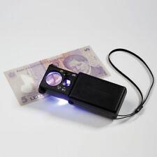 Loupe de poche x 10 avec LED et lampe UV - Réf  338880