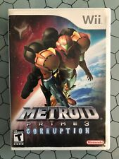 Metroid Prime 3: Corruption (Nintendo Wii, 2007) Complete w/booklet and case
