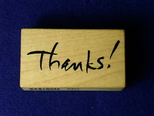 PSX E-2266 THANKS! Thank you so much SCRIPT Bold writing Quote wood Rubber Stamp
