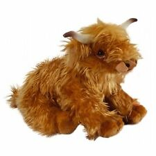 LIVING NATURE 30cm HIGHLAND COW WITH MOO SOUND SOFT TOY WITH TAG - NEW