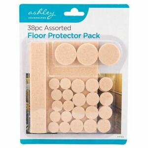 38 Floor Protectors Furniture Chairs Tables Self Adhesive Wooden Assorted Size