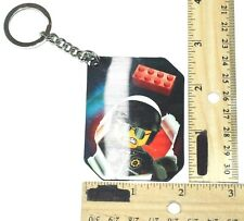 The Lego Movie Lenticular Keychain - Police Astronaut From Blind Bag Used 2014