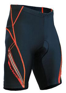 Berkner Ken-Plus Bike Shorts Cycling Shorts up To plus Size 5XL! Black-Red