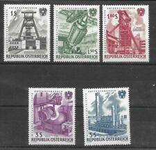 AUSTRIA 1961 150th ANNIV OF NATIONALISED INDUSTRIES SG 1370-74 SET 5 MNH
