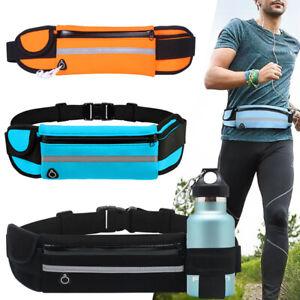 Hiking Running Bum bag Zip Pouch Money Wallet Sports Belt Waist Bag Fanny Pack