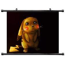 Anime Pokemon Pikachu Wallscroll Stoffposter Tapete Geburtstagsgeschenk 60x40CM
