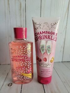 bath and body works champagne sprinkles shower gel and body cream