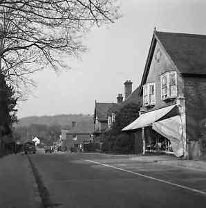 6x6 Negative Fernhurst West Sussex Street Scene Shops 1951 +Copyright  Y388