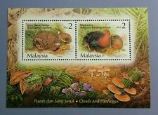 2001 Malaysia Birds --- Quails & Partridges Miniature Sheet Stamps Mint NH
